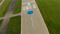 The famous Blue Dot on runway 36